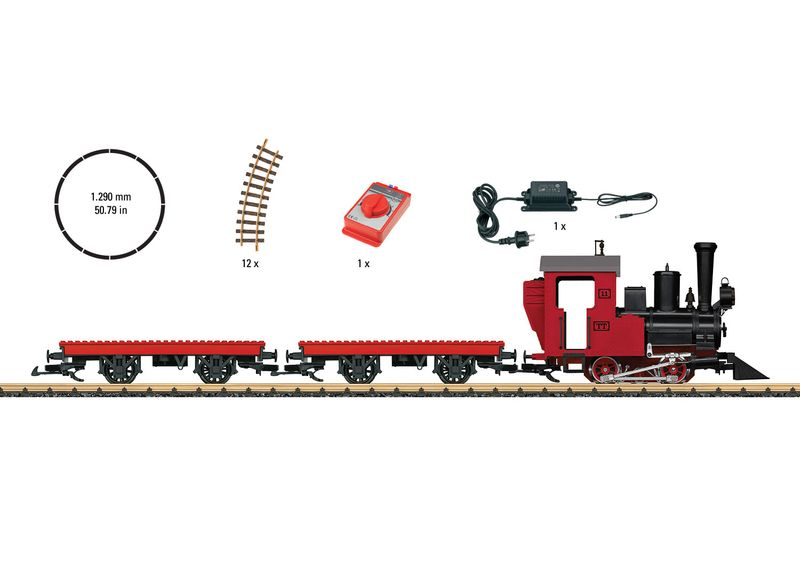 LGB Spur G 90463 Startpackung Bausteinzug