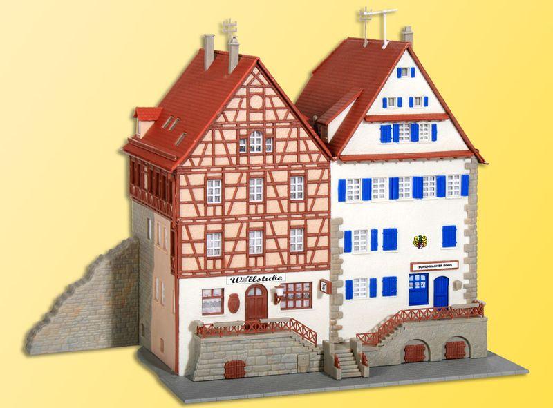Kibri 37368 N Fachwerkhaus an der Stadtmauer, 2 Stück