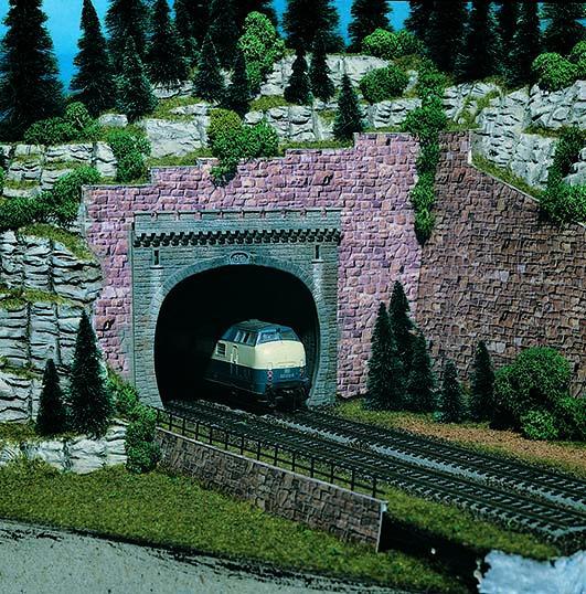 Vollmer 42502 H0 Tunnelportal, zweigleisig, 2 Stück