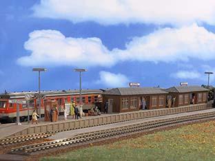 Vollmer 43550 H0 Bahnsteig Wiesental mit zwei Wartehallen