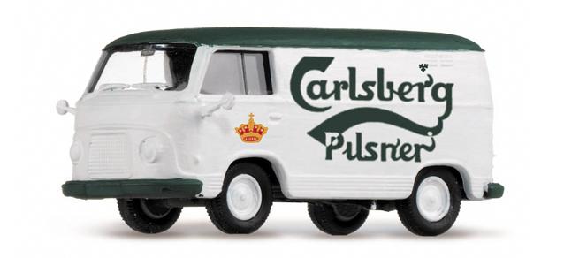 "Roco minitanks H0 6005 Ford FK 1000 ""Carlsberg"" Pilsner /Herpa 741996"