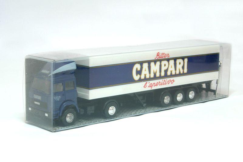 Albedo H0 AL005 Iveco Turbo Koffer-Sattelzug 2/3 - Campari
