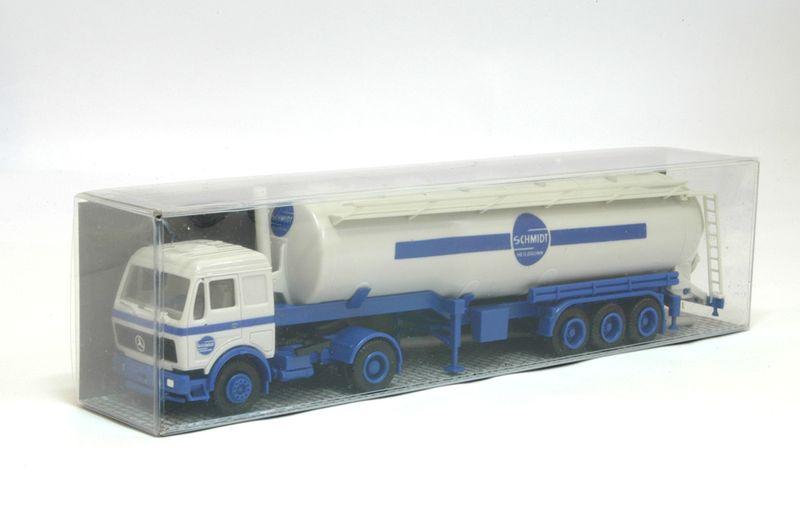 Albedo H0 AL019 MB SKKipp-Tanksattelzug 2/3 - Schmidt Heilbronn