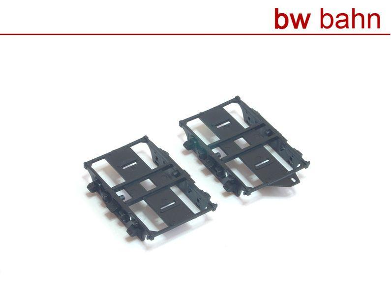 Röwa H0 5042-1Paar Schwanenhals-Drehgestell-Paar für Umbauwagen Paar mit 2 Stück