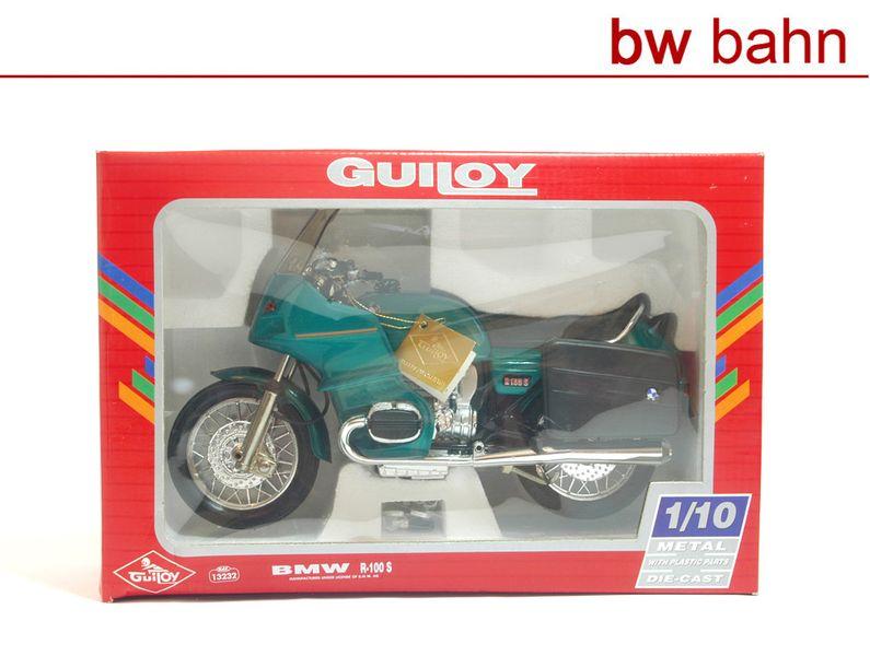 Guiloy 1:10 13232 BMW R-100 S Motorrad Fertigmodell grün-metallic Neu
