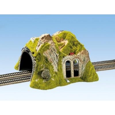 NOCH 02430 Spur H0 Tunnel 2-gleisig, gerade, 30 x 28 cm
