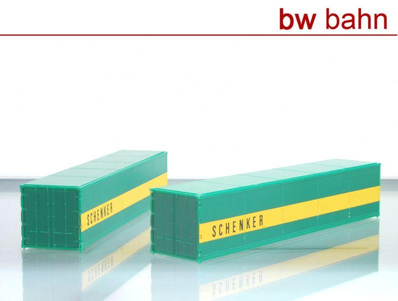 [Paket] Röwa H0 5022 40 Fuss Container Schenke,r 2 Stück. Neu