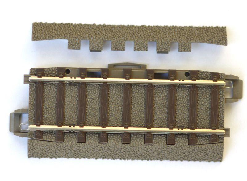Trix H0 62071 Gerades C-Gleis Ausgleichsstück 70,8 mm Böschungen abnehmbar