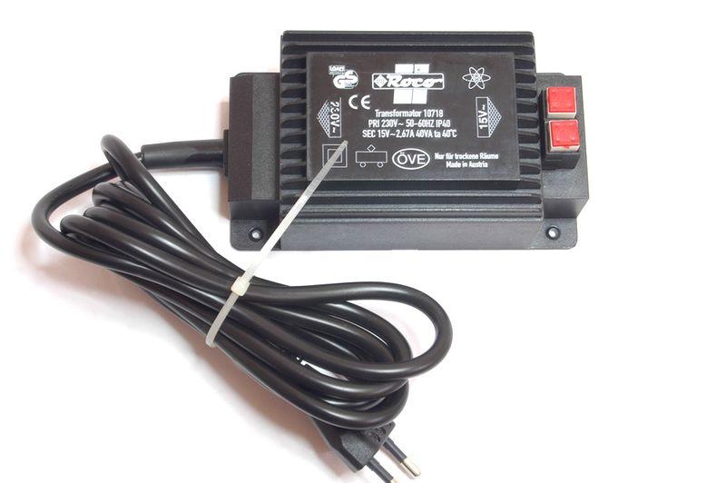 Roco H0 10718 Transformator 40 VA / 15 V Trafo Neu