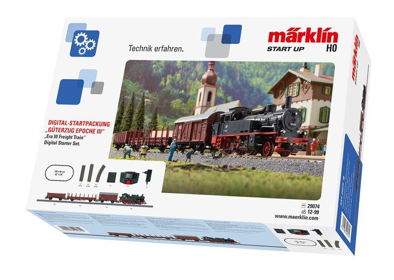 [Paket] Märklin H0 29074 Startpackung Güterverkehr mit Dampflok BR 74