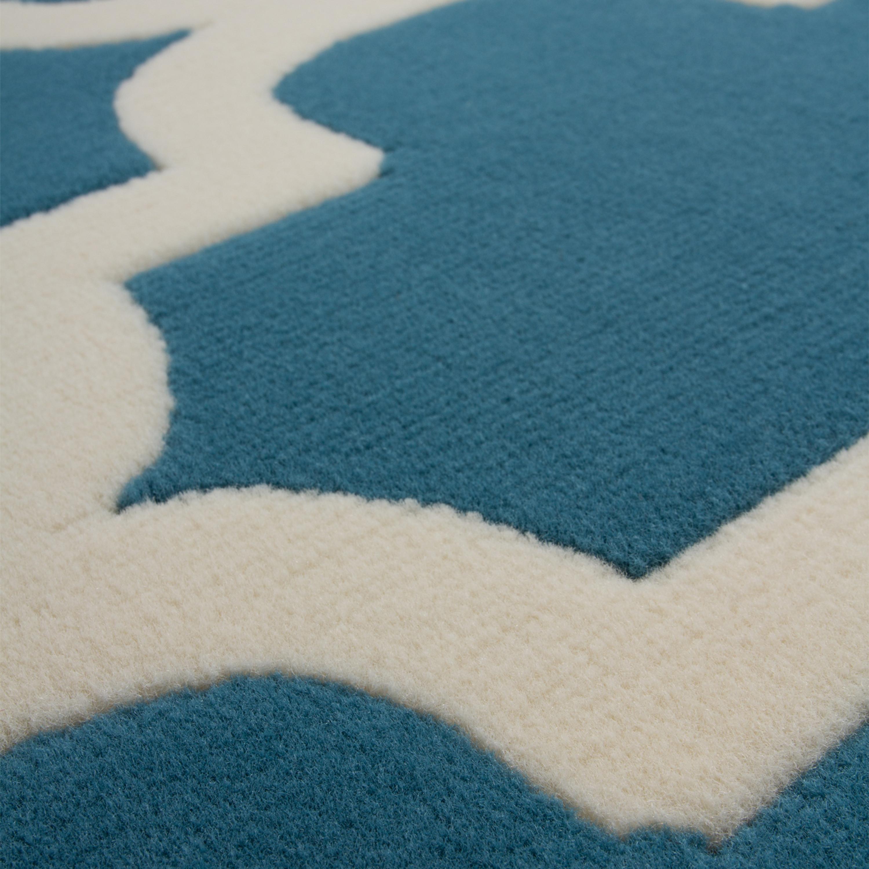 Kurzflor Flachflor Teppich Designer Modern Wohnzimmer Teppiche Türkis  Geometrisch U2013 Bild 4