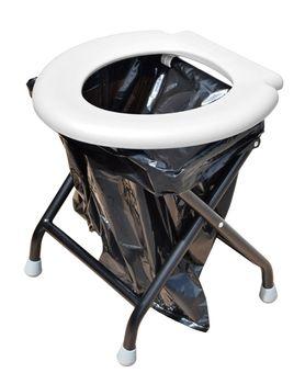 24Ocean Mobile Klapptoilette weiß mit 30 Beuteln WC Klo Camping – Bild 1