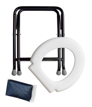 24ocean Mobile Klapptoilette weiß mit 30 Beuteln WC Klo Camping – Bild 2