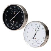 Fischer Edelstahl Wetterstation Barometer Bimetall-Thermometer Hygrometer Ø 130mm 001