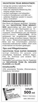 Yachticon Teakholz Reiniger Set - Super Reiniger Brightner Entgrauer Teaköl – Bild 5