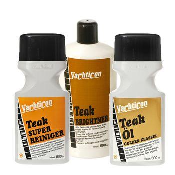 Yachticon Teakholz Reiniger Set - Super Reiniger Brightner Entgrauer Teaköl – Bild 1