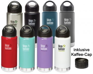 Klean Kanteen Wide Insulated Thermosflasche mit Loop Cap & Kaffee Cap – Bild 1