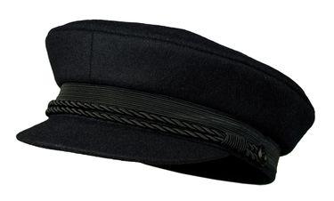 Balke Herren Elbsegler Kapitänsmütze mit Kordel - schwarz – Bild 1