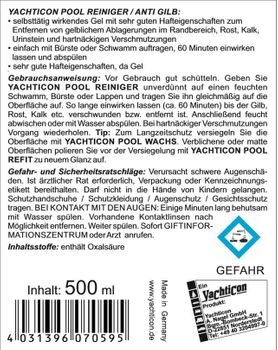 Yachticon Pool Reiniger - Anti Gilb 500ml – Bild 2
