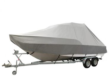 Oceansouth Abdeckplane Jumbo für Halbkajütboote grau Kajütboote T-TOP – Bild 1