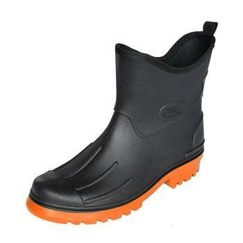 Bockstiegel Herren Jungen Peter Polyvinylchorid (PVC) Gummistiefel - schwarz mit farbiger Sohle – Bild 1