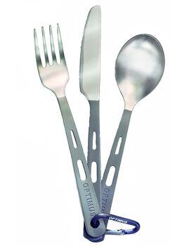 Optimus Kocher Titanium 3-Piece Cutlery Set