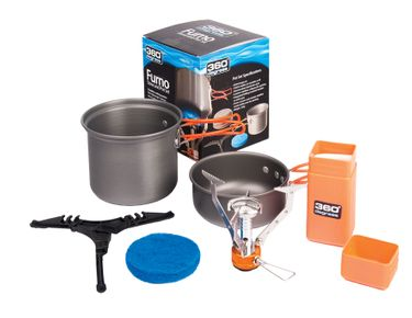 360° degrees Gaskocher Set Furno Stove & Pot Set Campingkocher