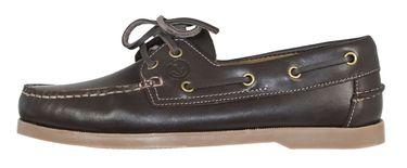 MADSea Waterside Bootsschuhe dunkelbraun Leder braune Sohle Deckschuhe – Bild 3