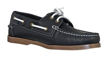 MADSea Waterside Bootsschuhe dunkelblau Leder braune Sohle Deckschuhe – Bild 6
