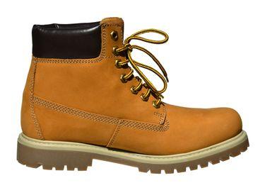 MADSea Damen Herren Leder Schnürstiefel Street Classic Boots gelb – Bild 4