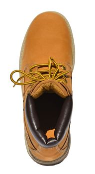 MADSea Damen Herren Leder Schnürstiefel Street Classic Boots gelb – Bild 7