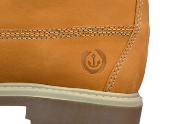 MADSea Damen Herren Leder Schnürstiefel Street Classic Boots gelb – Bild 9
