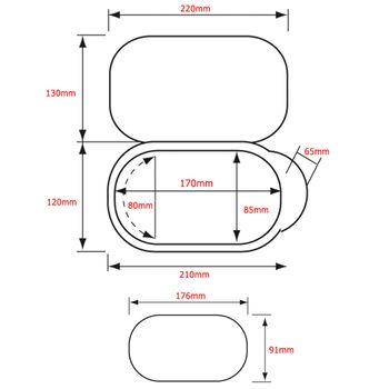 Nuova Rade Duscharmatur mit Mischbatterie im Einbaukasten mit Deckel – Bild 2