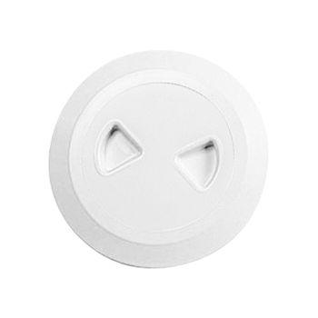Nuova Rade Inspektionsluke rund, Ø133mm, UV-beständig, weiß – Bild 1