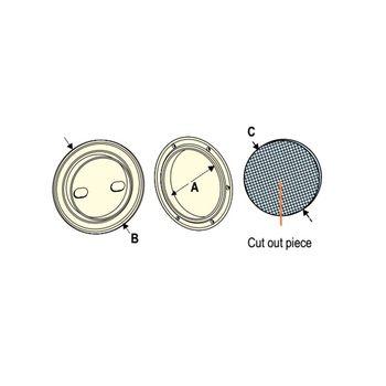 Nuova Rade Inspektionsluke rund, Ø133mm, UV-beständig, weiß – Bild 2