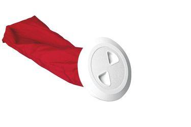 Nuova Rade Inspektionsluke rund mit Tasche, Ø133mm, weiß – Bild 1