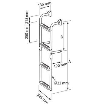 Nuova Rade Edelstahl Badeleiter mit 3 bis 6 Stufen einklappbar – Bild 2