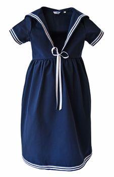 Modas Kinder Matrosenkleid weiß blau – Bild 2