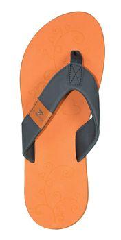 MADSea Damen Zehenstegpantolette Beach Woman Zehentrenner Sandale orange dunkelgrau – Bild 4