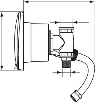 Nuova Rade Duscharmatur mit Mischbatterie im Einbaukasten mit Deckel – Bild 3