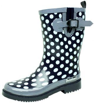 Bockstiegel DORIN Damen - Modische Gummistiefel | 36-42 Rubber Boots | Regenstiefel | Polka Dots | Gepunktet – Bild 4
