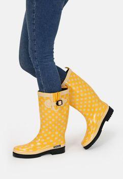 MADSea Damen Gummistiefel Ocean High Gelb Langschaft Regenstiefel  – Bild 5