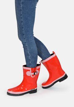 MADSea Damen Gummistiefel Ocean Pure Rot Halbschaft Regenstiefel  – Bild 3