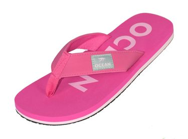 MADSea Damen Herren Zehenstegpantolette Ocean Zehentrenner Sandale fuchsia rosa pink – Bild 1