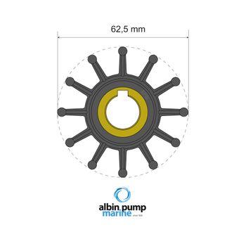 Albin Pump Premium Impeller Laufradsatz PN 06-01-016 Motor Pumpe Boot – Bild 1