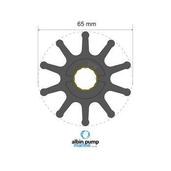 Albin Pump Premium Impeller Laufrad PN 06-02-023 Motor Pumpe Boot – Bild 1