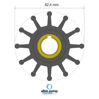 Albin Pump Premium Impeller Laufrad PN 06-02-025 Motor Pumpe Boot – Bild 1