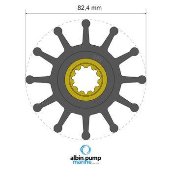 Albin Pump Premium Impeller Laufrad PN 06-02-026 Motor Pumpe Boot – Bild 1