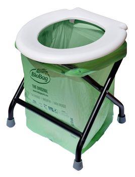 24ocean Mobile Klapptoilette weiß mit 32 kompostierbaren Beuteln WC Klo klappbar – Bild 1