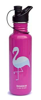 Klean Kanteen Trinkflasche Classic einwandig Flamingo 27oz  (800 ml) mit Loop Cap Edelstahl – Bild 1